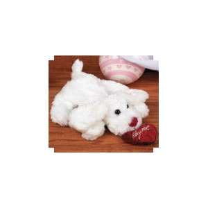 Valentines Day Gifts Plush White Bean Bag Dog with Heart