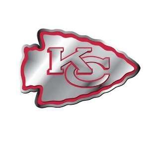Kansas City Chiefs NFL Football Team Red & Chrome Plated Premium Metal