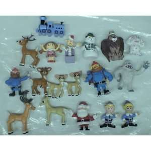 Lot of 18 Loose Rankin Bass Rudolph the Red Nosed Reindeer