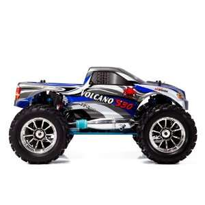 ~ S30 ~ 1/10 Scale ~ RC Nitro Monster Truck ~ BLUE Toys & Games