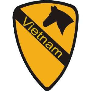 US Army 1st Cavalry Division Vietnam Patch Decal Sticker 3