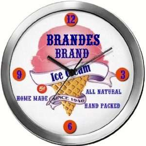 BRANDES 14 Inch Ice Cream Metal Clock Quartz Movement