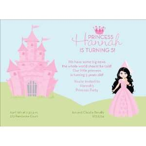 Princess Castle   Black Hair Invitations Health