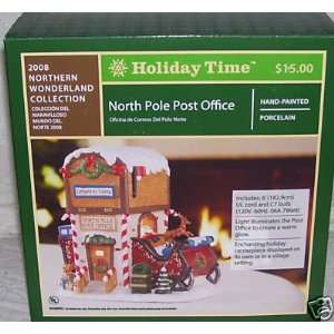 Holiday Time North Pole Post Office/Village Accessory/Christmas