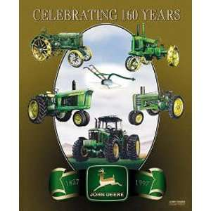 John Deere 160th Anniversary Metal Tin Sign Nostalgic