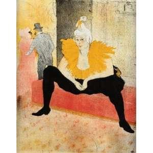 Oil Painting: Elles Cha U Kao Chinese Clown Seated: Henri
