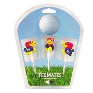Kansas Jayhawks 3 Pack Golf Ball Tee Mates