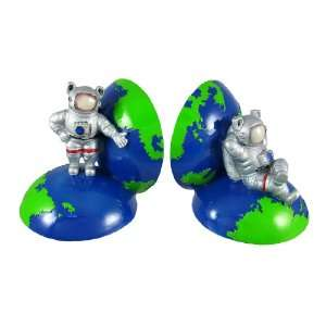 Cool Astronaut Globe Bookends Book Ends Space NASA Home & Kitchen
