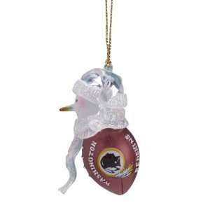 Washington Redskins NFL Acrylic Touchdown Snowman Ornament