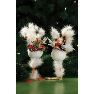 Patience Brewster Krinkles   Bernie & Bernice Snowbirds Orn, Set of 2