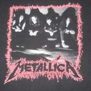 METALLICA 1990 VINTAGE TOUR T SHIRT ORIGINAL CONCERT