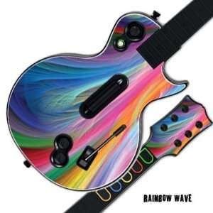 Decal Cover for GUITAR HERO 3 III PS3 Xbox 360 Les Paul   Rainbow Wave