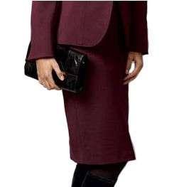 Sutton Studio Womens Wool Blend Pencil Ponte Seam Skirt