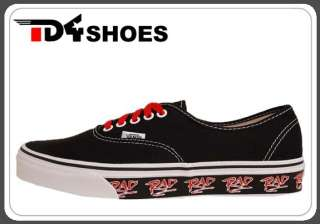 Vans Authentic Red Pack Black Canvas RAD Classic Mens Casual Shoes VN