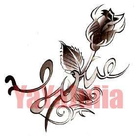Sheets Heart Rose Tribal Temporary Tattoos Lot A4
