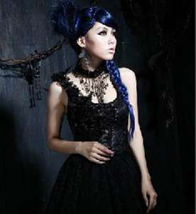 New Arrival Punk Visual Kei Gothic Rock Princess Black Necklace FREE
