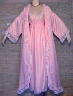 GIVENCHY INTIMITE PARIS Pink Nightgown Peignoir Set  M
