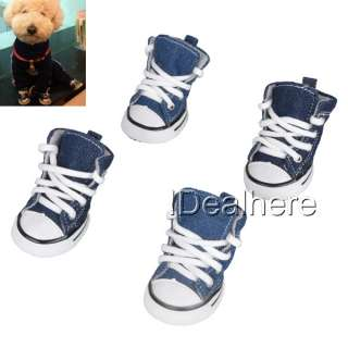 For Pet Dog Puppy Sporty Shoes Boots Sneaker No.1 Blue