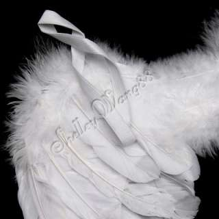Baby Angel Costume White Feather Wings Fairy Props S