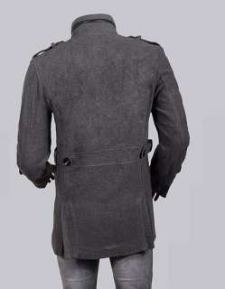 Mens Stylish Double Breasted Cashmere Coat Jacket MCH0384 Gray XL US M