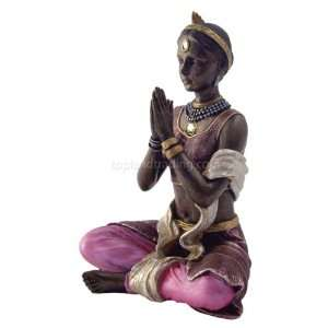 Yoga Lotus Pose Figurine Statue w/ Instructions and