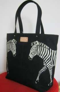 Kate Spade Zebra Bon Shopper Tote Bag Black White NWT!!