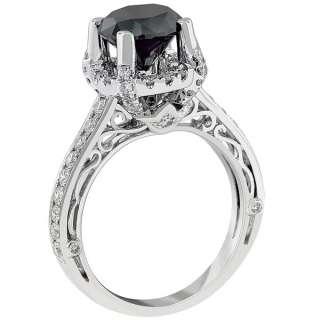 Diamond Engagement Ring Vintage Style 18K White Gold DD BDR 078