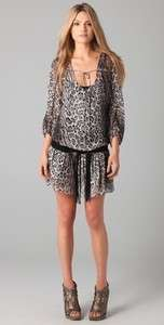 HAUTE HIPPIE SILK LEOPARD PRINT TUNIC W/ BELT DRESS NWT sz S