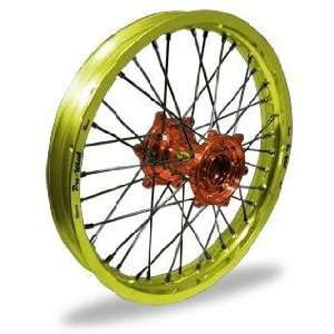 Wheel Pro Wheel 1.85x19 MX Rear Wheel   Yellow Rim/Orange Hub , Color