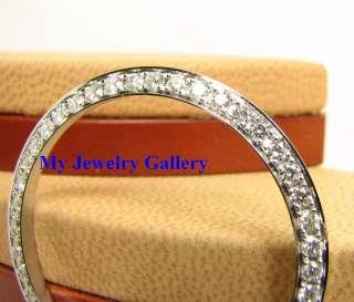 18K WHITE SOLID GOLD DIAMOND BEZEL FOR MEN ROLEX WATCH