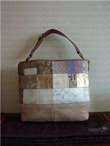 Signature Patchwork Large Satchel Tote Bag 10003 Purse Handbag