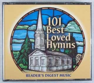 READERS DIGEST MUSIC 101 BEST LOVED HYMNS 4 CD SET. HAS 101 BEST