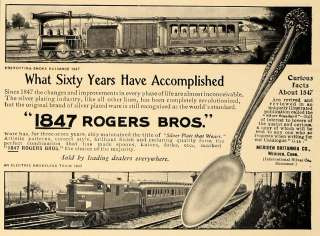 1907 Ad 1847 Rogers Bros Silver Plate Silverware Design   ORIGINAL