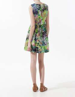 Zara PRINTED DRESS Olivia Palermo 97% COTTON Sz. XS, S, M, L, XL NEW