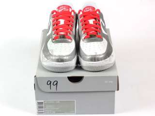 Force 1 (GS) White/Metallic Cool Grey Silver AF Classic Low 314219 106