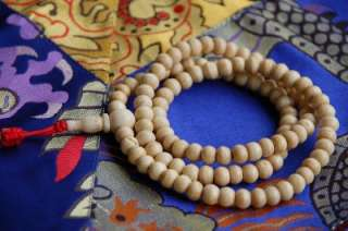 ANTIQUED YAK BONE MALA 108 BEADS FOR MEDITATION