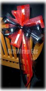 10 BIG APPLE RED PULL BOWS PEW CHAIR WEDDING DECORATION