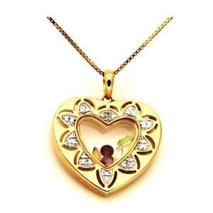 Heart of Gems Gold plated Necklace Jewelry