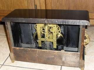 Antique Sessions Black Mantle Mantel Shelf Adamantine Style Wooden