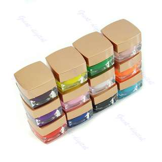 12x 8ml Solid Colors Opaque Mix UV Builder Gel Nail Art