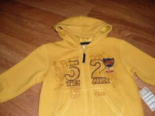 NWT Arizona sweat jacket new Infant Toddler boys outerwear clothing 24