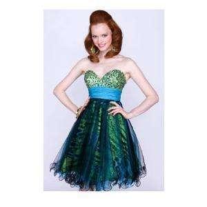 NWT SZ 12 Jovani 152153 short animal print poofy dress