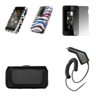 Premium horizontal black leather carrying case wth belt clip and loops