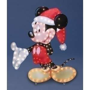 48 Mickey Mouse With Santa Hat Lighted Christmas Yard Art