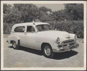 Vintage Car Photo 1950 Chevrolet Wagon Ambulance Chevy Ambulette