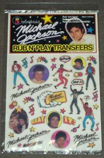 1984 Colorforms Michael Jackson Transfers Set MIP RIP