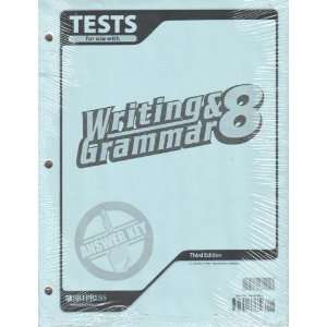 Writing & Grammar 8 Tests Answer Key, 3rd Edition