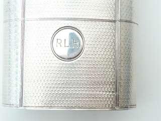 Superb Large Antique Sterling Silver Hip Flask 437g or 15oz