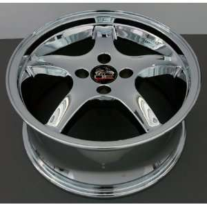 Cobra R 4 Lug Deep Dish Style Wheels Fits Mustang (R)   Chrome17x8 Set