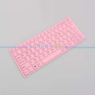 New Keyboard Protector Skin Cover for Sony YA YB Series Laptop US Pink